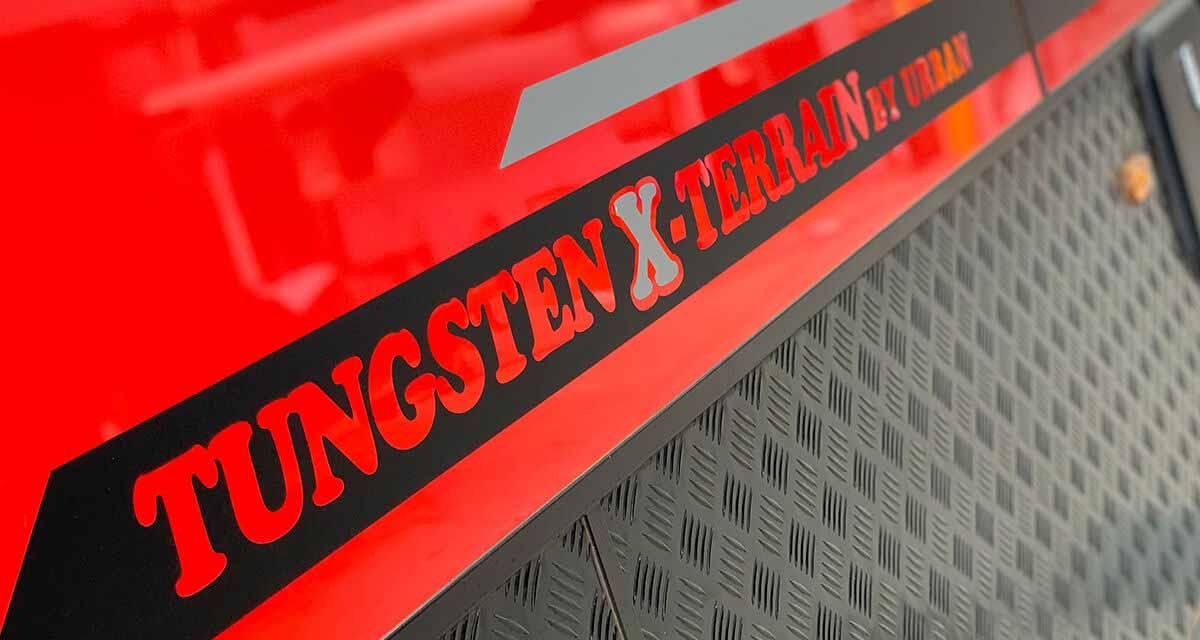 tungsten_x_terrain_red_checker_plate_matte_urban_caravans_110_aluminium_frame_tig_weld_offroad_off_road